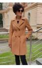 Efektowny płaszcz w camelowym kolorze, Zachwycające okrycia wierzchnie do pracy od Choice