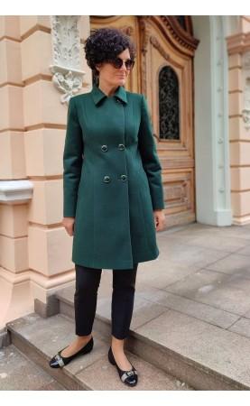 Wygodny płaszcz z bocznymi kieszeniami, Piękne okrycia wierzchnie z ociepleniem od Choice