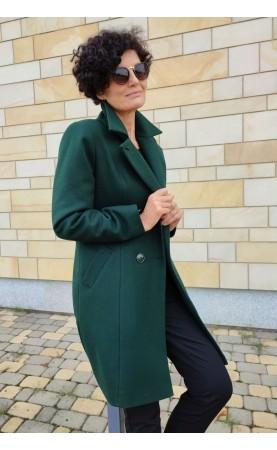 Wełniany płaszcz w wyrazistym kolorze, Klasyczne płaszcze damskie dla kobiet XXL od Choice