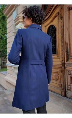 Zmysłowy płaszcz o profilowanym kroju, Zachwycające okrycia wierzchnie w granatowym kolorze od Choice