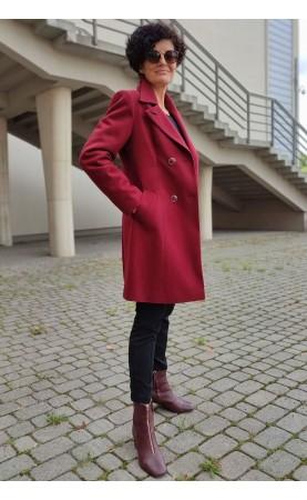 Midi płaszcz damski z pięknymi guzikami, Wieczorowe okrycia na każdą uroczystość od Choice