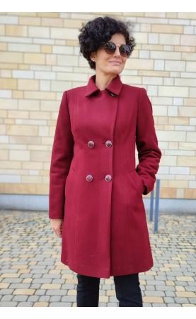 Profilowany płaszcz z stylowym kołnierzykiem, Atrakcyjne okrycia wierzchnie dwurzędowe od Choice