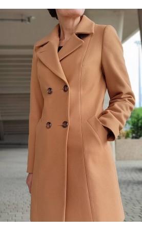 Zimowy płaszcz uszyty z wysokiej jakości wełny, Modne okrycia wierzchnie dla kobiet XXL od Choice