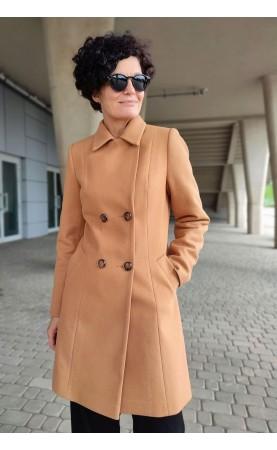 Perfekcyjnie skrojony płaszcz dwurzędowy, Stylowe okrycia wierzchnie z pięknymi guzikami od Choice