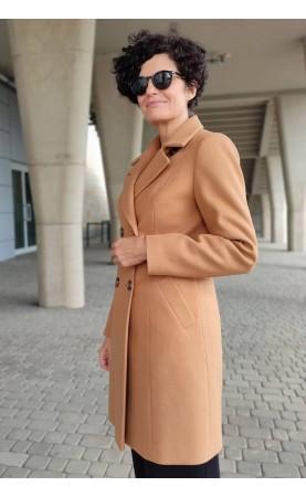 Dwurzędowy płaszcz na podszewce, Oryginalne okrycia wierzchnie z stylowym kołnierzem od Choice