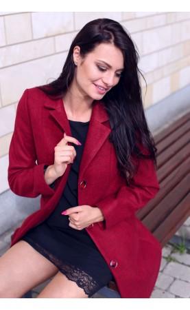 Elegancki płaszcz z długimi rękawami i stylowymi guzikami, Nowoczesna odzież damska od Choice