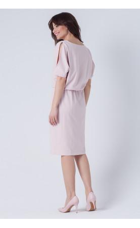 Jasnoróżowa sukienka na specjalne okazje, Modne kreacje ołówkowe od Choice