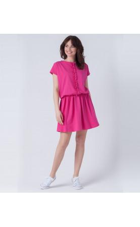 Oryginalna suknia z marszczonym dołem, Różowe kreacje sportowe od Choice