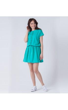 Mini sukienka rozkloszowanym dołem, Luźne kreacje dla zabieganych kobiet od Choice