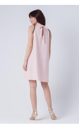 Trapezowa Sukienka Mia Koronka Różowa