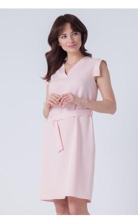 Prosta Midi Sukienka Viki Różowa