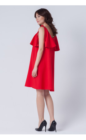 Mini sukienka z falbaną, Ekskluzywne sukienki koktajlowe od Choice