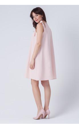 Nowoczesna sukienka z kokardą na ramieniu, Śliczne kreacje w trapezowym kroju od Choice