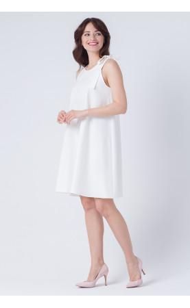 Biała sukienka na uroczystości odbywające się w lecie, Wizytowe suknie mini od Choice