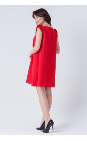Wizytowa sukienka o fasonie trapezowym, Rozkloszowane sukienki na święta od Choice