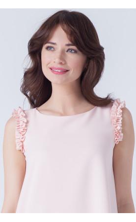 Piękna sukienka z efektowną riuszką, Nowoczesne kreacje wizytowe od Choice