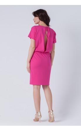 Stylowa sukienka z ołówkowym dołem, Wizytowe kreacje w kolorze różowym od Choice