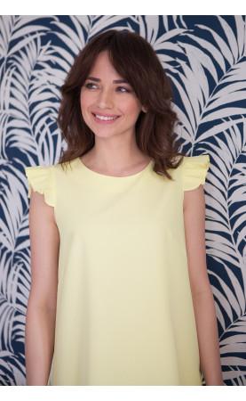 Mini Sukienka Lisi Żółta