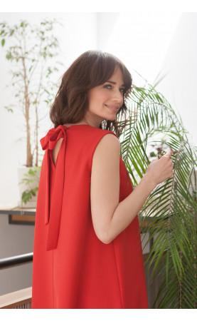 Sukienka Trapezowa Cristal Czerwona