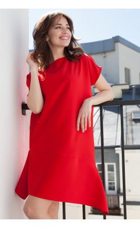 Sukienka Oversize Fancy Czerwona