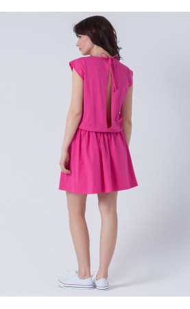Bawełniana sukienka z gumą w pasie, Zmysłowe kreacja na wypady za miasto od Choice