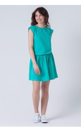 Sportowa sukienka z marszczonym dołem, Modne stylizacje na urlop od Choice