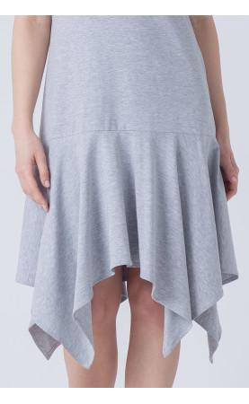 Asymetryczna suknia z falbaną, Modne stylizacje na lato od Choice