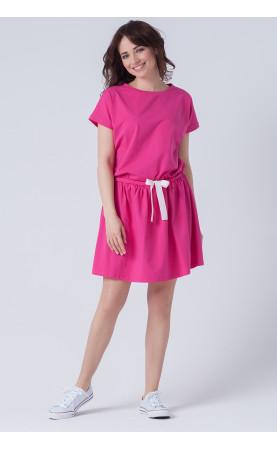 Stylowa sukienka na lato, Oryginalne kreacje w różowym kolorze od Choice