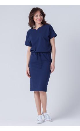 Piękna sukienka z oryginalnym dekoltem, Stylowe sukienki do pracy w lecie od Choice