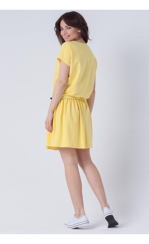 Żółta sukienka na lato, Oryginalne kreacje wyszczuplające od Choice