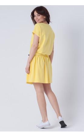 Stylowa sukienka na wypady za miasto, Luźne kreacje do pracy w biurze od Choice