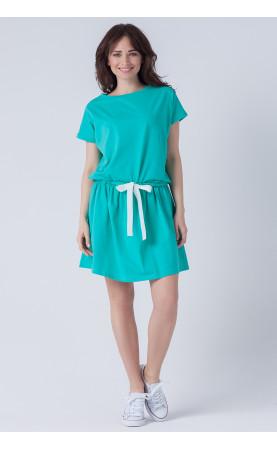 Luźna sukienka z krótkim rękawem, Casualowe kreacje na wczasy od Choice