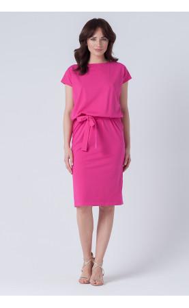 Elegancka sukienka o długości midi, Modne kreacje wizytowe na sezon letni od Choice