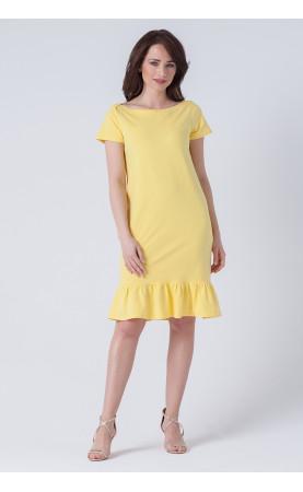 Prosta sukienka z falbaną, Modne kreacje na imprezy w plenerze od Choice