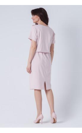 Midi sukienka z marszczona falbaną, Stylowe kreacje dla kobiet o wyszukanym guście od Choice