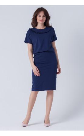Stylowa sukienka w granatowym kolorze, Modne stylizacje na lato od Choice