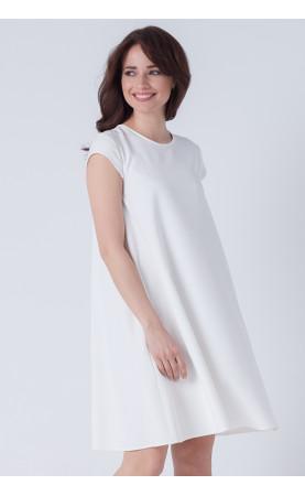Sukienka Trapezowa Cristal Biała