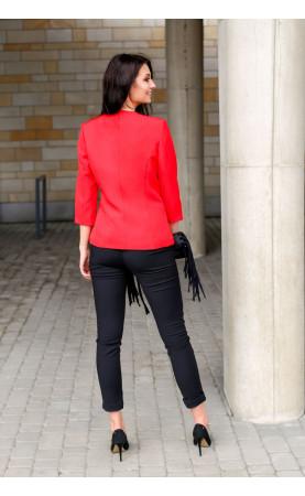 Zniewalający żakiet w kolorze czerwonym, Biznesowe marynarki dla kobiet sukcesu od Choice