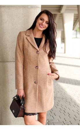 Stylowy płaszczyk zapinany na trzy guziki, Profesjonalna odzież zimowa od Choice