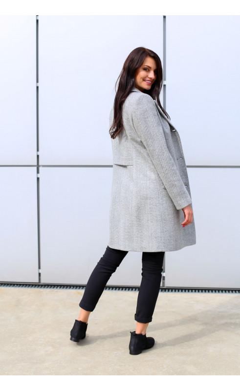 Wizytowy płaszcz o kroju profilowanym, Nowoczesne okrycia wierzchnie do pracy od Choice