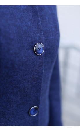 Profilowany płaszcz z biżuteryjnymi guzikami, Koktajlowe płaszcze na sezon zimowy od Choice